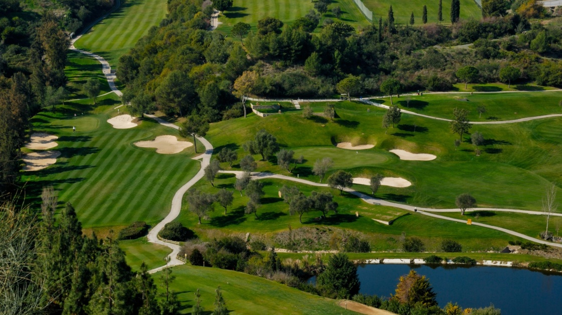 'Landscape of golf course in Marbella, Andalusia, Spain' - Andalusia