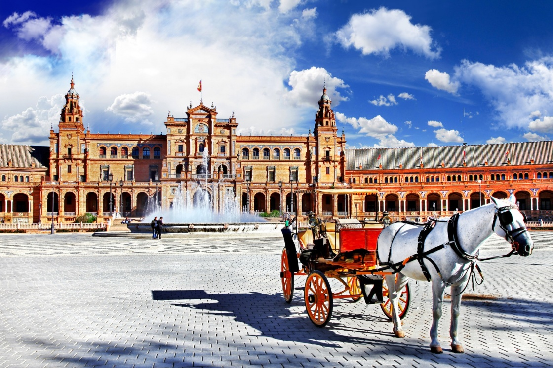 'beautiful Plaza de Espana, Sevilla, Spain' - Andalusia