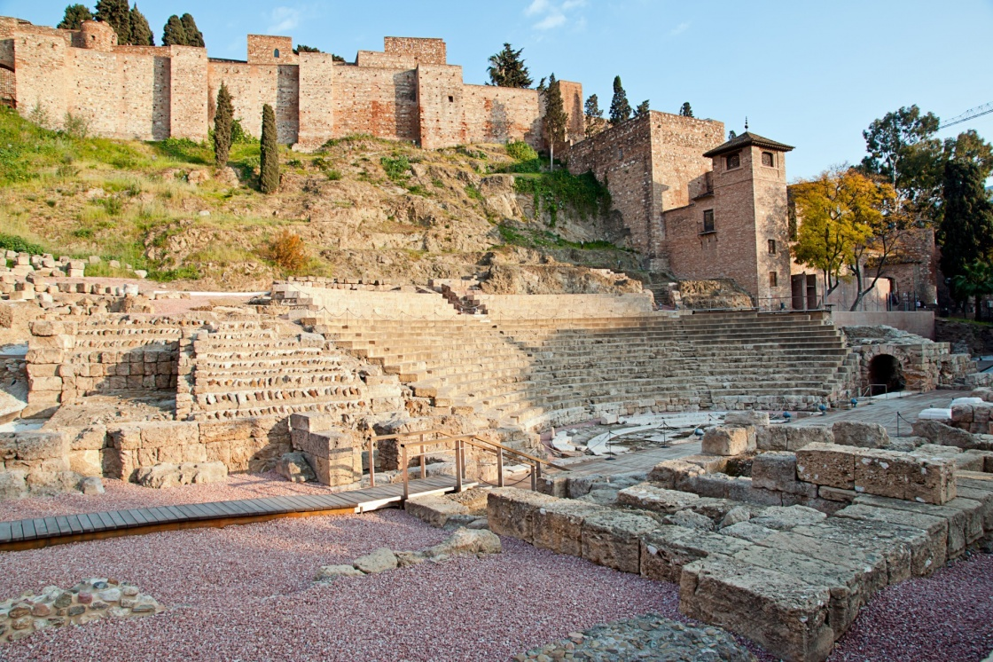 Old Roman theater in Malaga, Spain
