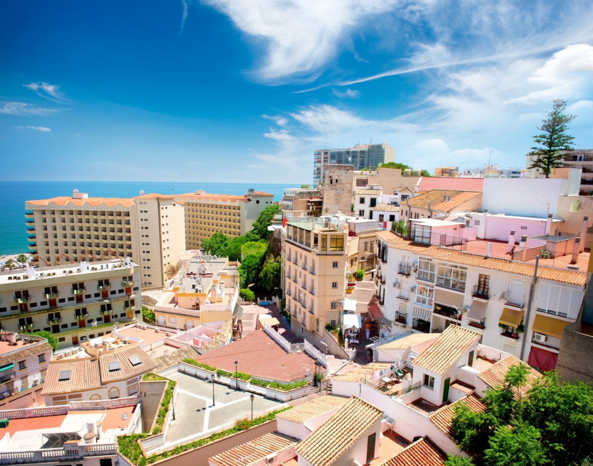'Torremolinos Panoramic View (Spanish tourist city), Costa del Sol. Malaga, Andalucia, Spain' - Andalusia